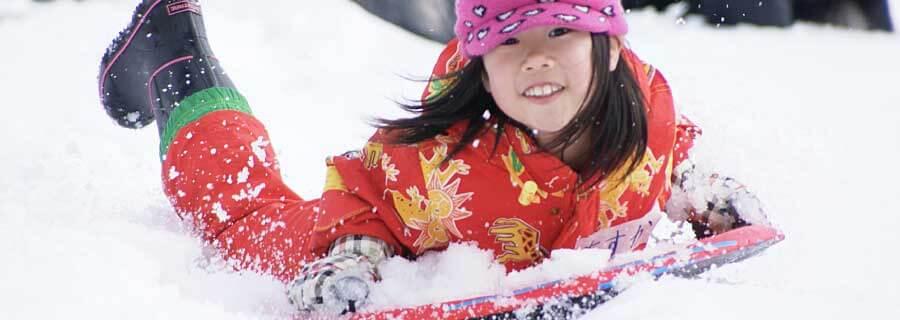 Kannabe Mountains winter sledding snow