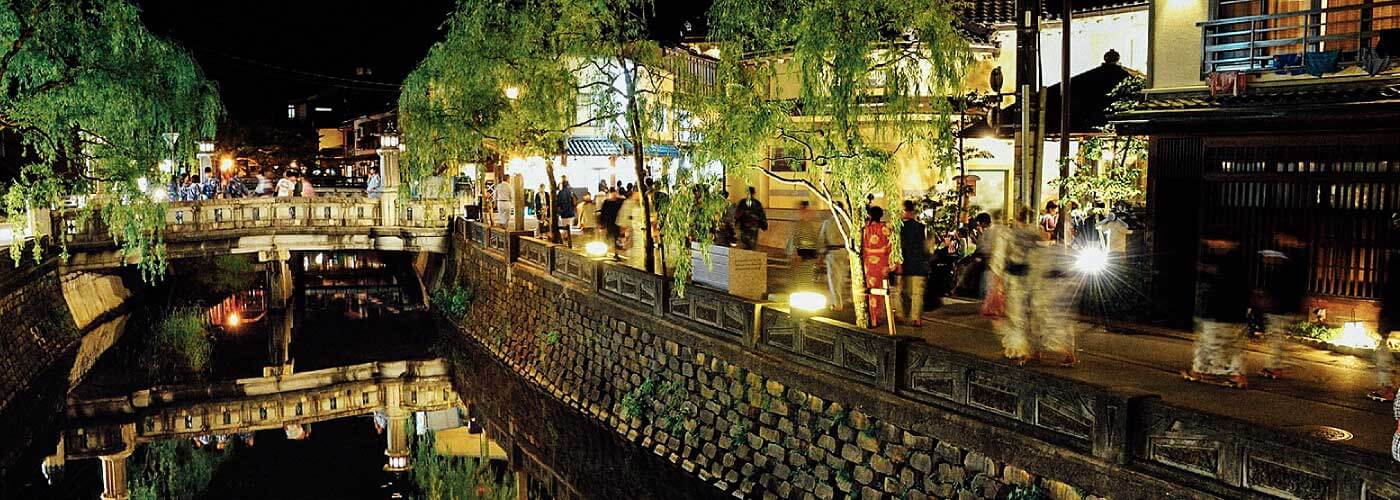 Kinosaki Onsen at night