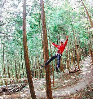 Oku-kannabe forest adventure ropes course