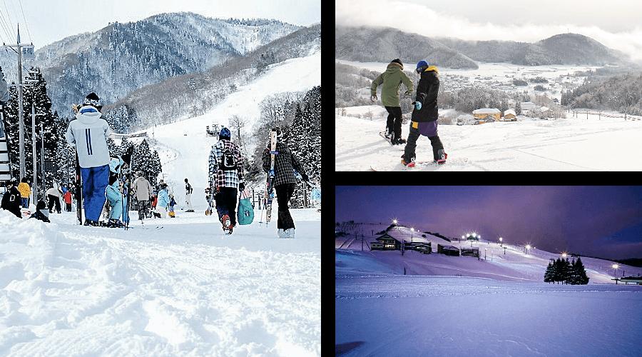 Winter ski resorts skiing in Kannabe