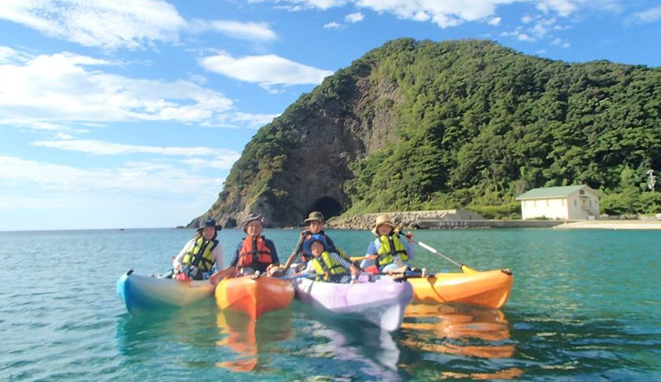 Kayak on crystal-clear waters in the Sea of Japan