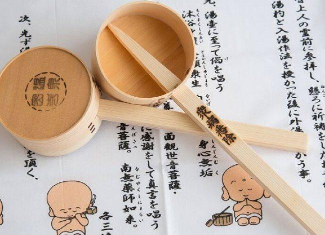 shakushu (Bamboo ladle) hand-towel