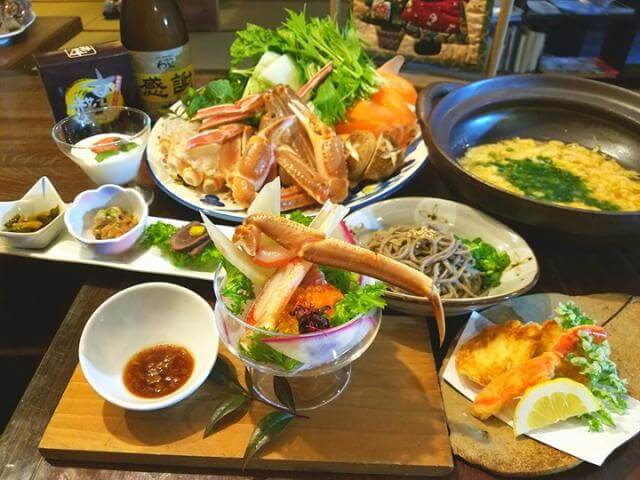 Traditional Crab Lunch in a Traditional Japanese House & Restaurant
