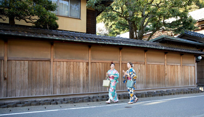 Strolling through the town in yukata