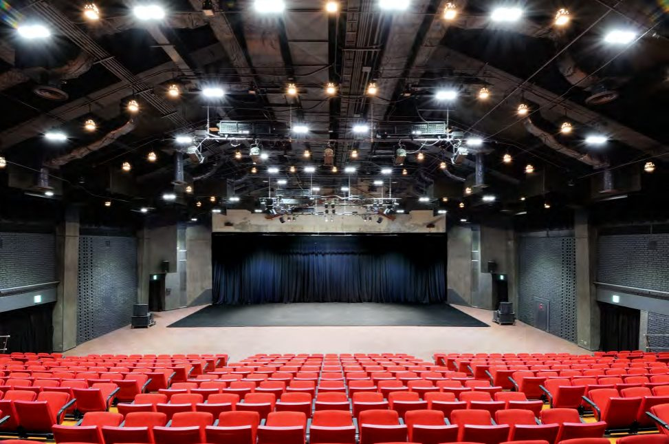 KIAC features 6 studios, 7 residencies, and a main hall which houses 500 people